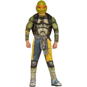Child Teenage Mutant Ninja Turtles Movie Deluxe Michelangelo Costume