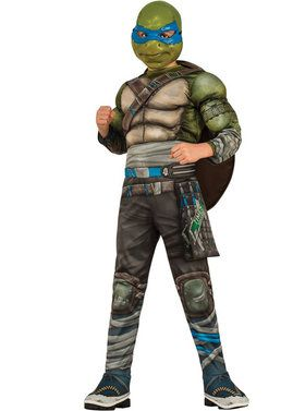 Child Teenage Mutant Ninja Turtles Movie Deluxe Leonardo Costume