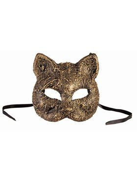 Textured Cat Mask Gold