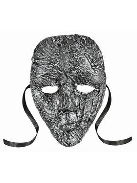 Textured Full Face Mask Silver