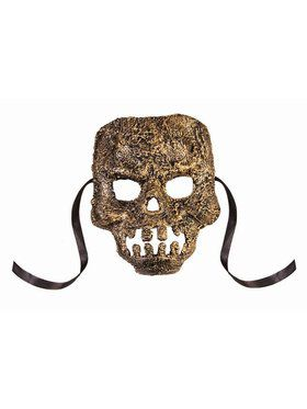 Textured Skull Mask Gold