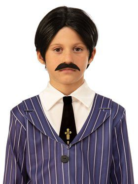 The Addams Family Kids Gomez's Wig and Moustache
