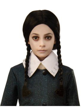 The Addams Family Kids Wednesday's Wig