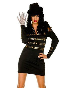 The Gloved One Sexy Military Dress Costu