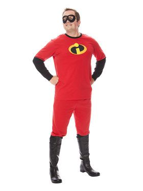 Mr. Incredible Men's The Incredibles Shirt and Pants Costume