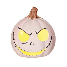 The Nightmare Before Christmas Jack Skellington Light-Up Pumpkin
