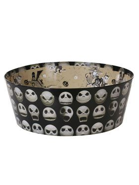 "The Nightmare Before Christmas Jack Skellington Paperboard Candy Bowl (12"" x 4.5"")"