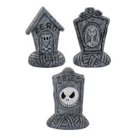 The Nightmare Before Christmas Decorative Mini Tombstone Set (3)