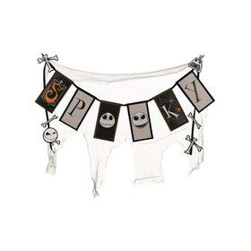 Nightmare Before Christmas Cheesecloth Spooky Banner Decoration
