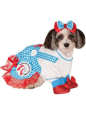 Dog Wizard of Oz Dorothy Costume