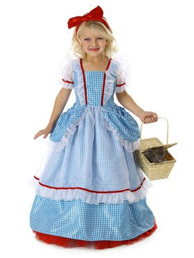 Girls Pocket Princess The Wizard Of Oz Dorothy Costume
