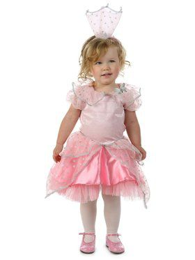Girls Wizard of Oz Glitter Glinda Child Costume