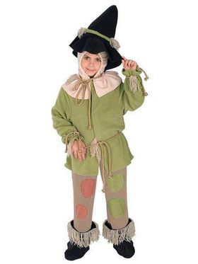 The Wizard of Oz Premium Scarecrow Costume For Toddlers/Children