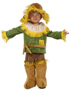 The Wizard of Oz Scarecrow Kids Costume Small