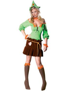 Sexy Scarecrow Wizard of Oz Womens Costume