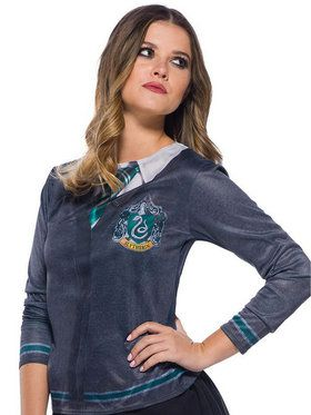 The Wizarding World Of Harry Potter Adult Slytherin Costume Top