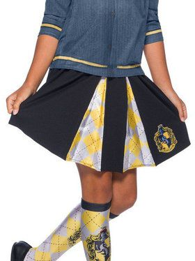 The Wizarding World Of Harry Potter Girls Hufflepuff Skirt