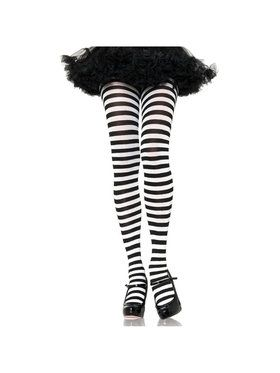 Tights Striped Black/White