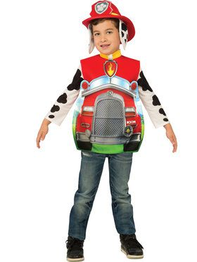 Toddler 3d Marshall Paw Patrol Costume