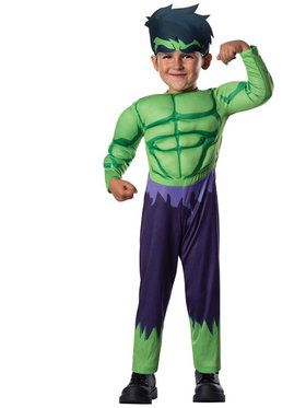 Avengers Assemble Hulk Toddler Boy Costume