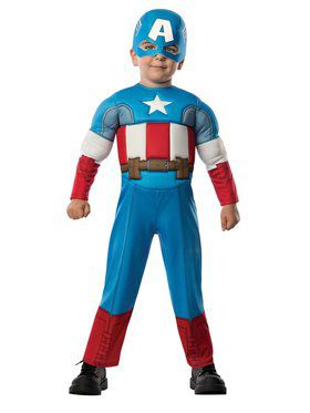 Captain America Deluxe Toddler Child Costume
