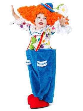 Toddler Colorful Circus Clown Costume