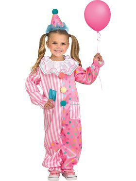 Cotton Candy Clown Toddler Costume