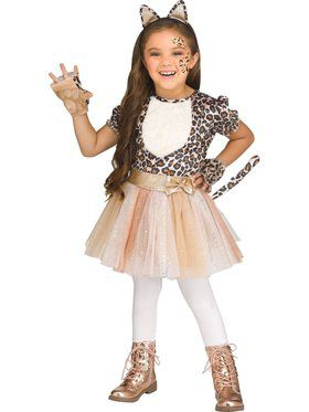 Rose Gold Leopard Girls Toddler Costume