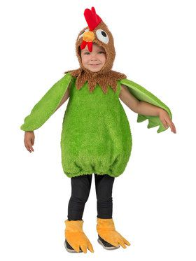Toddler Green Rooster Costume