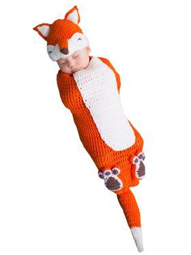 Newborn Kit the Fox Bunting Costume