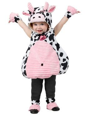 Cow Pink Belly Costume for Kids