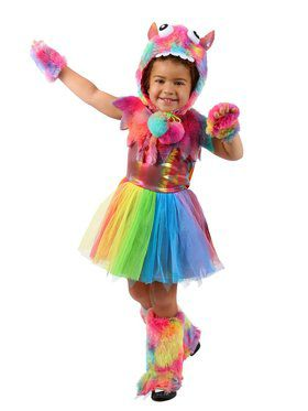 Toddler Rowdy Rainbow Monster Costume