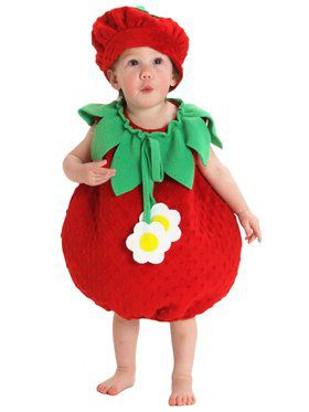Child Bubble Strawberry Costume