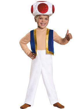 Toddler Toad Super Mario Brothers Costume