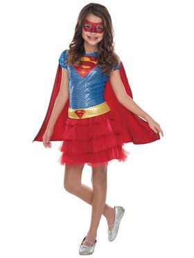 Supergirl Sequin Costume For Toddlers