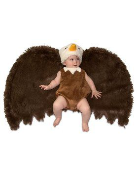 Newborn Bald Eagle Swaddle Wings Costume