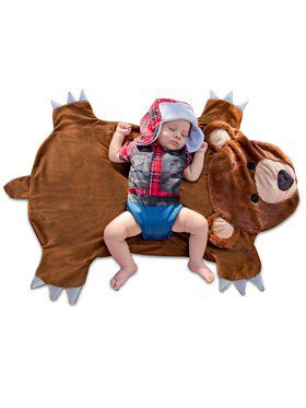 Newborn Bear Hunter Swaddle Wings Costume