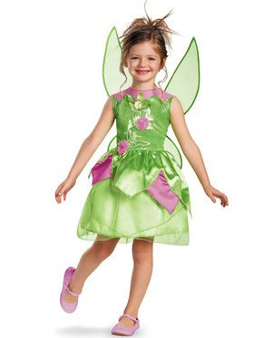 Girls Tinker Bell Fairy Classic Costume