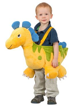 Ride In Dino Yellow Costume for Kids