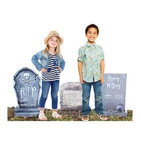Tombstone 3 Pack Outdoor Plastic Decorations