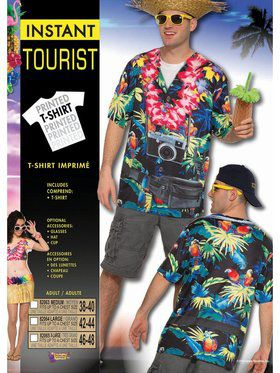 Tourist Sublimation Adult Costume