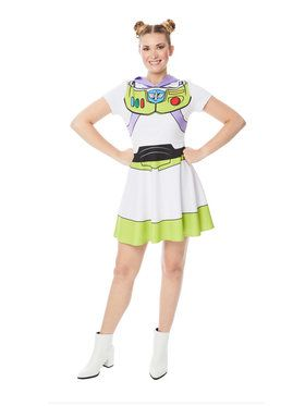 Buzz Lightyear Women's Toy Story 4 Hooded Dress Costume