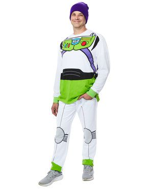Buzz Lightyear Men's Toy Story 4 Shirt and Pants Costume