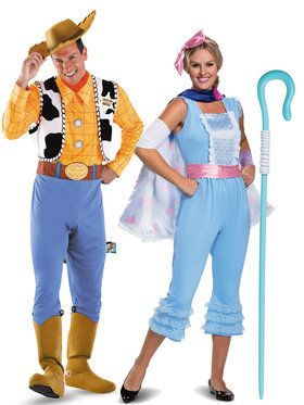 Toy Story Woody and Bo Peep Couple Costume