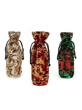 Traditional Reversible Wine Bag Set (3)