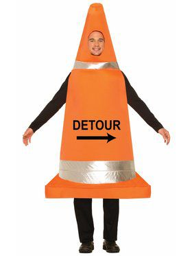 Traffic Cone - One Size Adult Costume