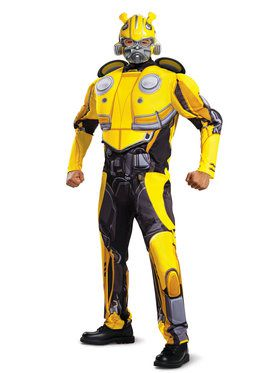 Adult Classic Muscle Bumblebee Transformers Costume