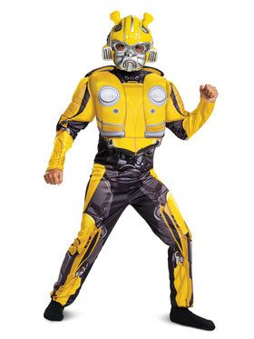Child Muscle Classic Bumblebee Transformers Costume