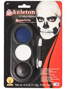 Tri Color Pallettes Skeleton Makeup Kit