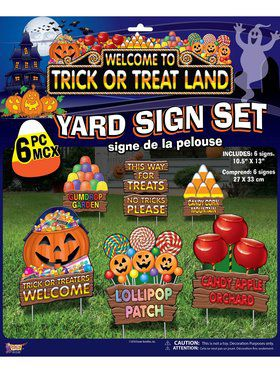 Trick Or Treat Land - Lawn Sign Set